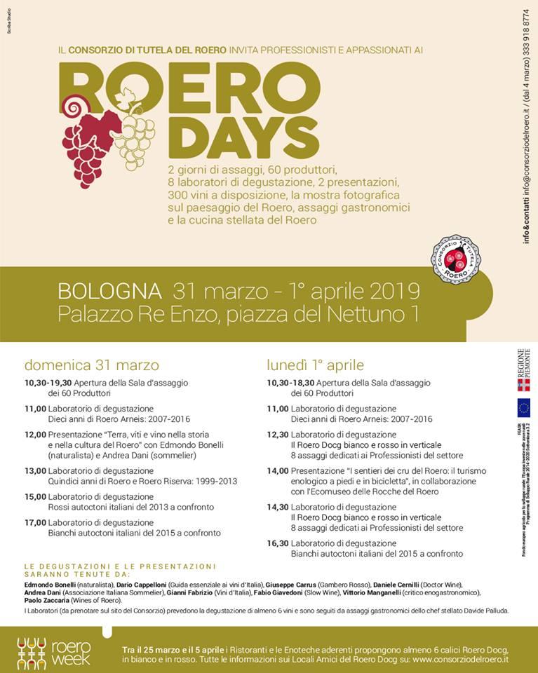 Roero Days 2019 - programma completo